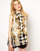 Vila Chain Print Sleeveless Shirt