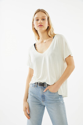 Project Social T Washed Oversized V-Neck Tee