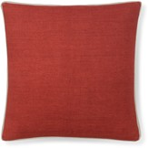 Williams-Sonoma Williams Sonoma Solid Linen Pillow Cover with Gusset, Coral