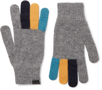 Paul Smith Colour-Block Wool Gloves