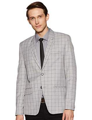 LUXRIO Mens Tailored Fit Light Weight Buttoned Closure Blazer