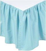 American Baby Company 100% Cotton Percale Crib Dust Ruffle- Aqua