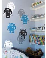 Blik Giant Robots Wall Stickers in Black and White