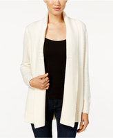 Charter Club Petite Shawl-Collar Textured Open-Front Cardigan, Only at Macy's