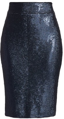 Halston Sequined Fitted Skirt