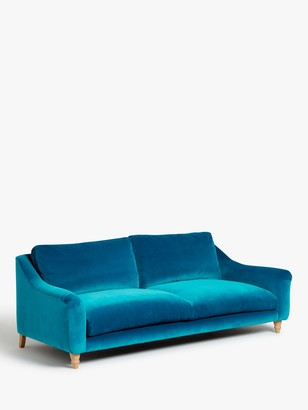 loaf Schmoozer Grand 4 Seater Sofa by at John Lewis, Clever Velvet Pacific