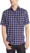 Bugatchi Men's Emilio Short Sleeve Classic Button Down Shirt