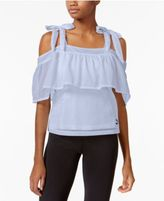 Puma Xtreme Off-The-Shoulder Mesh Top