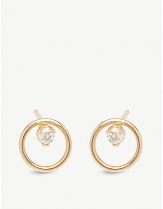 Chicco The Alkemistry Zoë 14ct yellow-gold and diamond small circle earrings