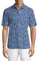 Saks Fifth Avenue COLLECTION Paisley-Print Chambray Shirt