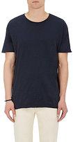 Nudie Jeans Men's Organic Cotton Raw-Edge T-Shirt-BLUE