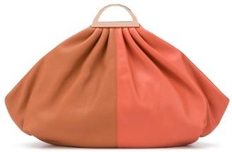 THE VOLON two-tone clutch bag