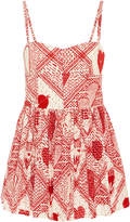 RED Valentino Sweetheart Woodblock Print Romper
