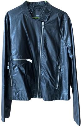 MANGO Black Leather Jacket for Women