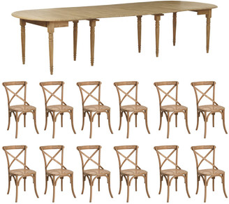 OKA Petworth Extending Table and Camargue Chair Dining Set - Multi