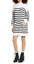 MinkPink Indhra Stripe Long Sleeve Sweater Dress