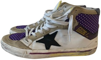 Golden Goose 2.12 White Leather Trainers