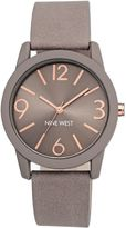 Nine West Taupe and rose gold watch