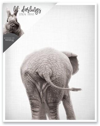 mavisBLUE Elephant Bum Print