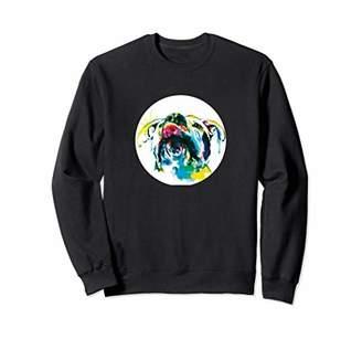Women's Colorful Ink Pit Bull Dog Sweatshirt