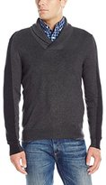 Perry Ellis Men's Pullover Colorblock Shawl Sweater
