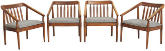 Rejuvenation Set Of 4 Mid-Century Modern Dining Chairs By Lane