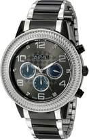 August Steiner Men's AS8121TTB Swiss Quartz Multifunction Diamond Mother-of-Pearl Gun Dial Two-Tone Bracelet Watch