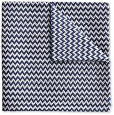 Dark Navy End-on-end Zig-zag English Luxury Silk Pocket Square Size Osfa By Charles Tyrwhitt