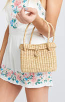 MUMU Pamela V ~ Florence Mini Straw Bag ~ Natural