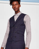 Ted Baker Sterling checked wool waistcoat