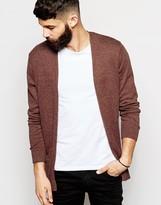 Asos Cotton Buttonless Cardigan - Orange