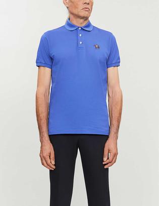 Ralph Lauren Purple Label Custom-fit cotton-pique polo shirt