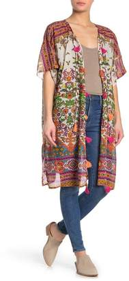 Raga Ruhi Floral Tassel Trim Kimono