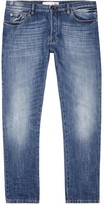 Valentino Blue Studded Straight-leg Jeans