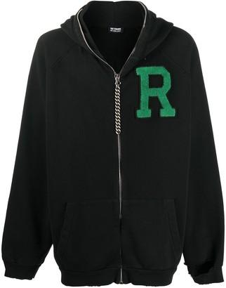 Raf Simons Logo Patch Oversized Zip-Up Hoodie