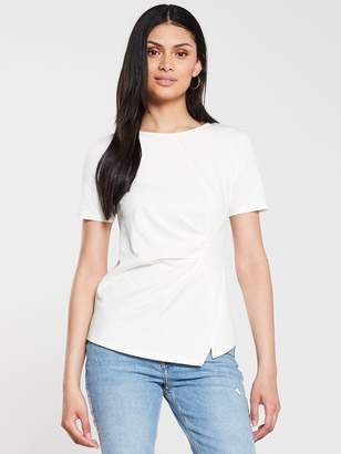 Very Pleat Front Tee - White