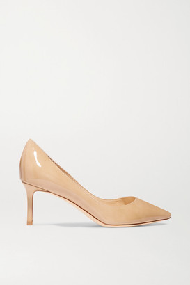Jimmy Choo Romy 60 Patent-leather Pumps - Neutral