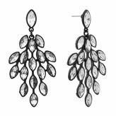 MONET JEWELRY Monet Clear And Black Chandelier Earring
