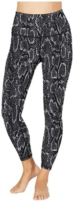 Beyond Yoga Lux High Waisted Midi Leggings (Black Snake) Women's Casual Pants