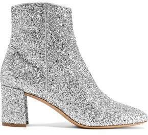 Mansur Gavriel Glittered Leather Ankle Boots