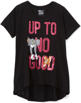 Jerry Leigh Black Tom & Jerry 'Up to No Good' Tee - Girls