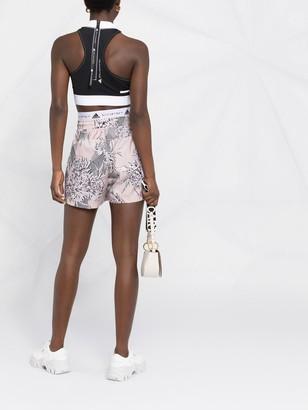 adidas by Stella McCartney Floral-Print Track Shorts