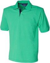 Henbury Mens Contrast 65/35 Polo Shirt (L)