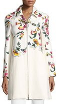 3.1 Phillip Lim Studded Floral Appliqué Coat, Multi