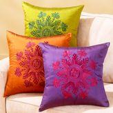 Malika Silk Medallion Print Toss Pillows