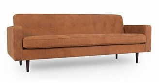Mickey Mid-Century Leather Sofa Corrigan Studio Upholstery Color: Cognac