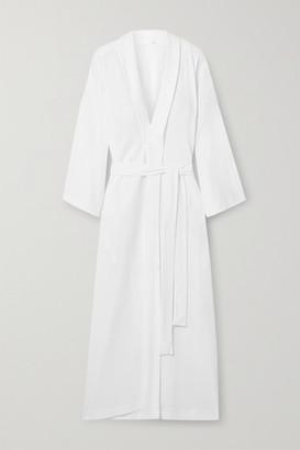 Skin Lydia Textured Pima Cotton Robe - White