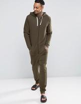 Asos Loungewear Onesie In Khaki