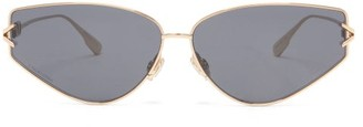 Christian Dior Diorgypsy2 Small Cat-eye Metal Sunglasses - Black