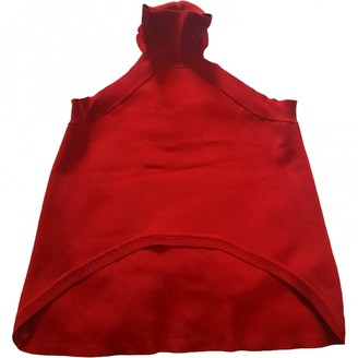 C/Meo Red Polyester Tops